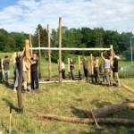 Nadaljevanje gradnje prazgodovinske kmetije