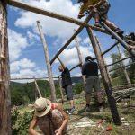 Gradnja prazgodovinske kmetije Praštirc