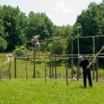 Gradnja prazgodovinske kmetije